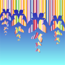 Royalty Free Clipart Image of an Abstract Butterfly Background