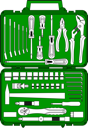 Royalty Free Clipart Image of a Toolbox
