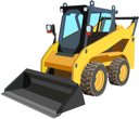 Royalty Free Clipart Image of a Tractor