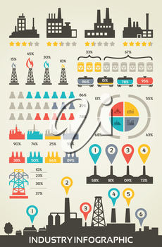A set of infographics on the subject industry. Vector illustration