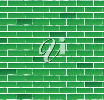 Royalty Free Clipart Image of a Seamless Brick Wall