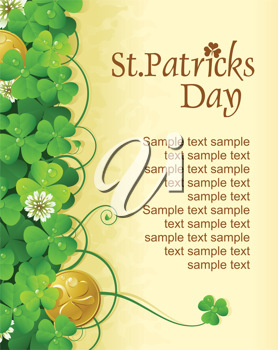 Royalty Free Clipart Image of a St Patrick Day Background