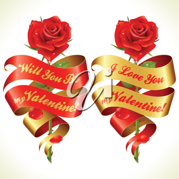 Royalty Free Clipart Image of a Valeninte's Card