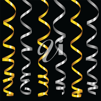 Royalty Free Clipart Image of Streamers