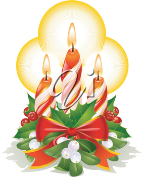 Royalty Free Clipart Image of Candles