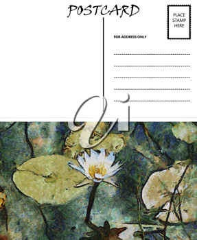 Royalty Free Photo of a Water Lily Postcard