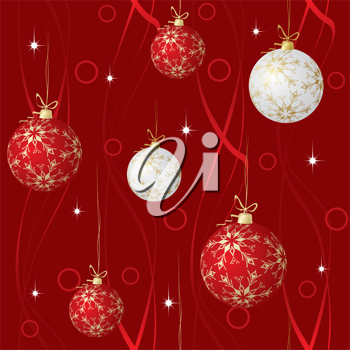 Royalty Free Clipart Image of a Christmas Ball Background