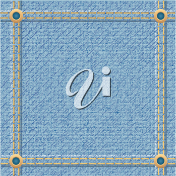 Royalty Free Clipart Image of Denim