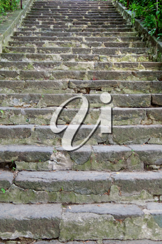 steps in a top are made of stone