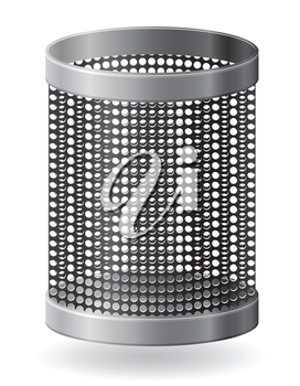 dustbin vector illustration isolated on white background
