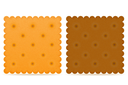 crispy biscuit cookie vector illustration isolated on gray background