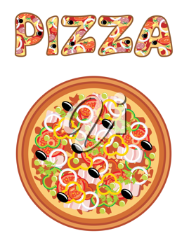 Royalty Free Clipart Image of Pizza