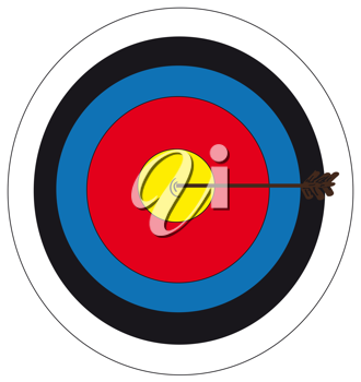 Royalty Free Clipart Image of a Bullseye