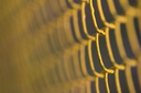 background of yellow metal mesh