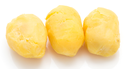 boiled potatoes on a white background