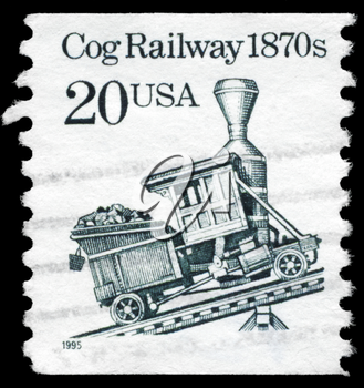 Royalty Free Photo of 1995 US Stamp Shows the Cog Railway, Transportation