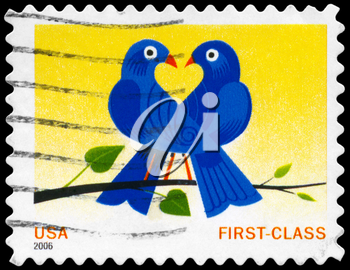 Royalty Free Photo of 2006 US Stamp Shows the Birds