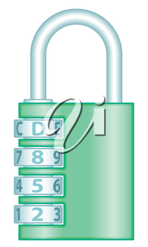 Illustration of the combination code lock