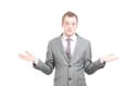 Royalty Free Photo of a Businessman Shrugging