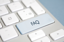 Royalty Free Photo of an FAQ Button on a Keyboard