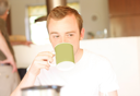 Royalty Free Photo of a Man Drinking Coffee