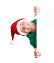 Royalty Free Photo of a Man in a Santa Hat