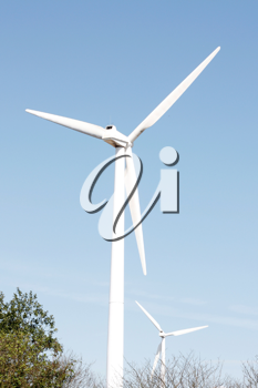 Royalty Free Photo of Wind Turbines