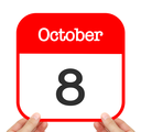 October 8 written on a calendar
