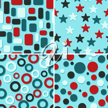 Royalty Free Clipart Image of a Background of Shapes