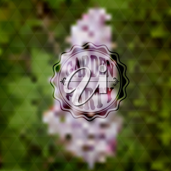 Vector Garden Party Invitation, Blurred background, gradient mesh and transparency effects, fully editable eps 10 file