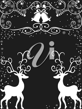 Royalty Free Clipart Image of Reindeer