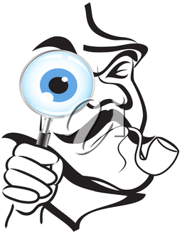 Royalty Free Clipart Image of a Detective
