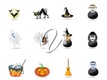 Royalty Free Clipart Image of Halloween Icons