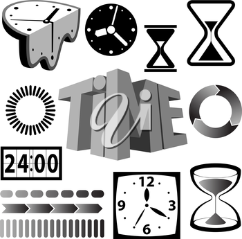 Royalty Free Clipart Image of Time Icons