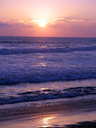 Royalty Free Photo of the Beach at Sunset