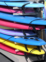 Royalty Free Photo of a Stack of Surfboards