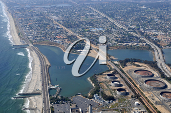 Royalty Free Photo of an Aerial View Of Carlsbad, California