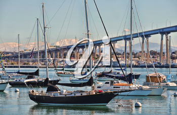 Royalty Free Photo of Boats in San Diego