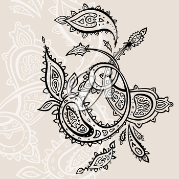 Royalty Free Clipart Image of a Paisley Background