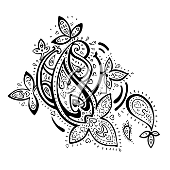 Royalty Free Clipart Image of a Paisley Ornament