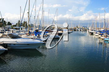 Royalty Free Photo of Yachts in Larnaca Port, Cyprus