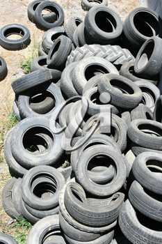 Royalty Free Photo of Old Tires