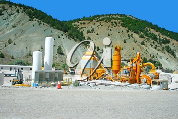 Royalty Free Photo of Movable Concrete Mixer Plants in Turkey