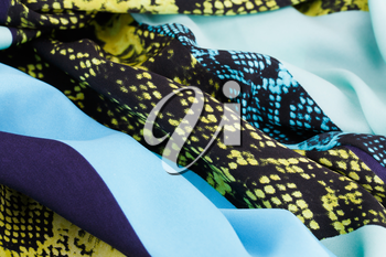 Colorful fabric for background, close-up image.
