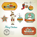 Royalty Free Clipart Image of Vintage Labels