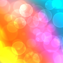 Colour background with bubbles.