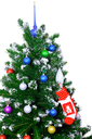 Christmas and New Year tree. Isolated over white