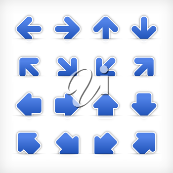 Royalty Free Clipart Image of a Set of Arrow Stickers
