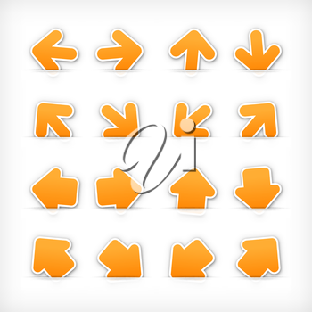 Royalty Free Clipart Image of a Set of Arrow Icons