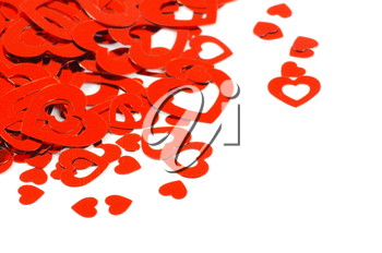 Royalty Free Photo of Hearts on White